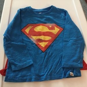 Gap Boys Superman with removable Cape Shirt 4Yrs